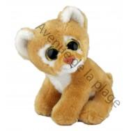Peluche bébé lionne avec yeux scintillants