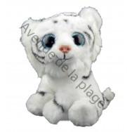Peluche bébé Tigre blanc yeux scintillants