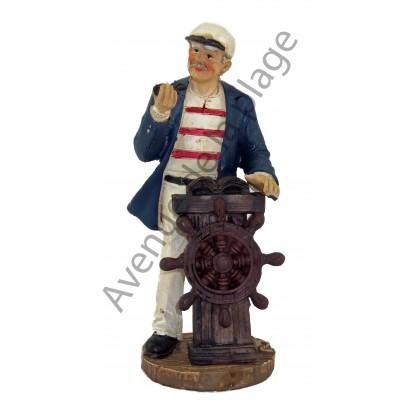 Figurine Marin capitaine avec barre à roue 12.5 cm, modèle A.