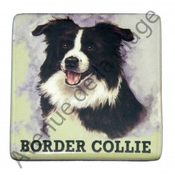 magnet chien border collie pas cher achat vente avenue de la plage. Black Bedroom Furniture Sets. Home Design Ideas