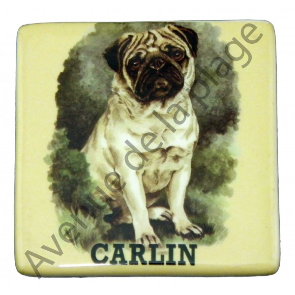 magnet chien carlin pas cher achat vente avenue de la. Black Bedroom Furniture Sets. Home Design Ideas