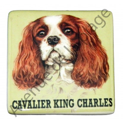 Magnet chien Cavalier King Charles marron
