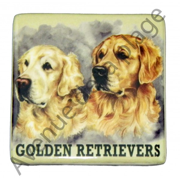 magnet chien golden retriever pas cher vente avenue de la plage. Black Bedroom Furniture Sets. Home Design Ideas