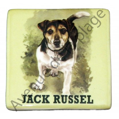 magnet chien jack russel pas cher achat vente avenue de la plage. Black Bedroom Furniture Sets. Home Design Ideas
