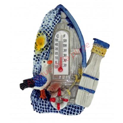 Magnet mouette sur barque avec thermomètre, modèle A