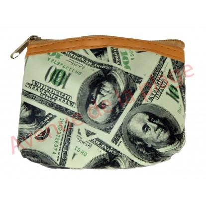 Porte monnaie billets de 100 Dollars
