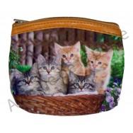 Porte monnaie chat et chaton