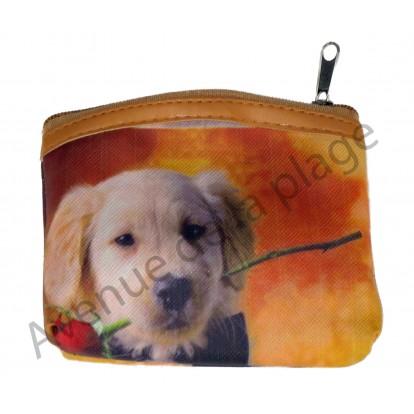 Porte monnaie chien labrador, modèle A.