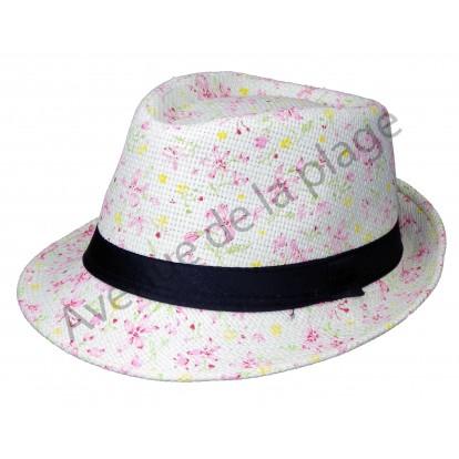 Chapeau Borsalino Liberty à fleurs