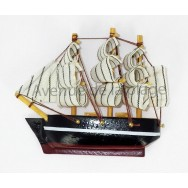 Magnet voilier Trois mâts - décoration marine - modèle F.