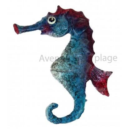 Magnet hippocampe bleu.