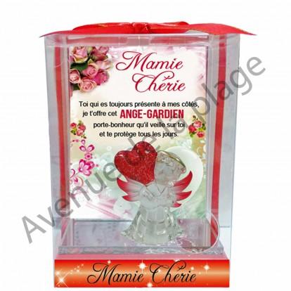 Figurine Ange gardien avec coeur Mamie Chérie