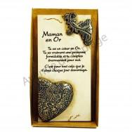"""Plaque message """"Maman en Or"""""""