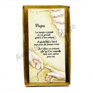"Plaque message ""Papa"""