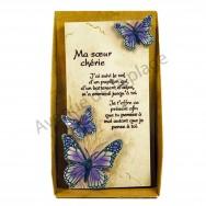 """Plaque message """"Ma soeur chérie"""""""