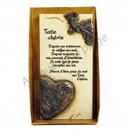 """Plaque message """"Tatie chérie"""""""