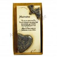"""Plaque message """"Marraine"""""""