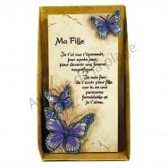 "Plaque message ""Ma Fille"""