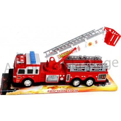 Camion de pompier avec grande échelle