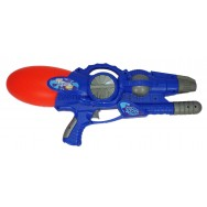 Pistolet à eau 54 cm à pression bleu.