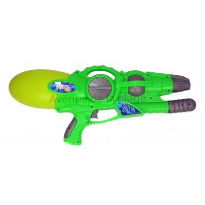 Pistolet à eau 54 cm à pression vert.