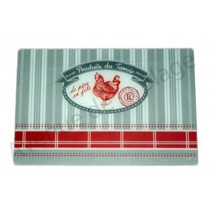 Planche à découper Poule - Produits du terroir