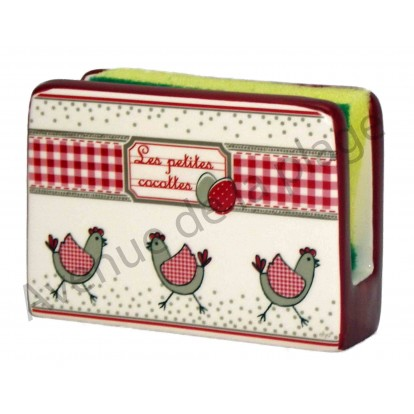Porte éponge Poule - Les petites cocottes