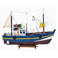 Maquette bateau de pêche au filet 45 cm