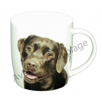 Mug chien Labrador chocolat