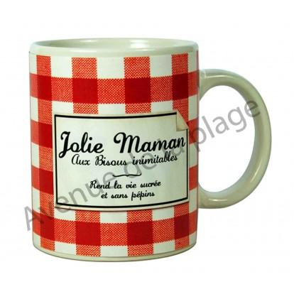 "Mug humoristique ""Jolie Maman"""