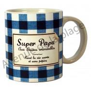 "Mug humoristique ""Super Papa"""