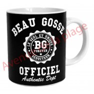 "Mug humoristique ""Beau Gosse Officiel"""