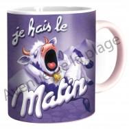 "Mug humoristique ""Je hais le matin"""