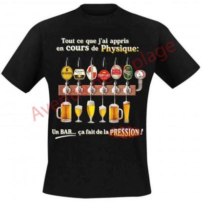 """T-shirt humoristique """"Cours de Physique"""""""