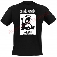 "T-shirt humoristique ""Panda le matin"""