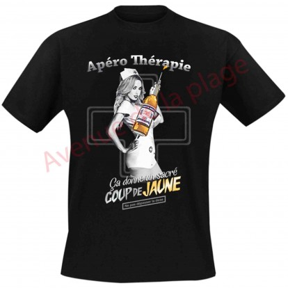 """T-shirt humoristique infirmière """"Apéro thérapie"""""""