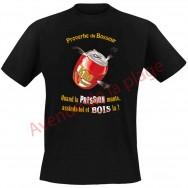 """T-shirt humoristique """"La pression je la bois"""""""