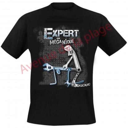 "T-shirt humoristique ""Expert en MégaNique"""