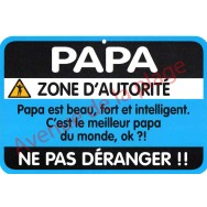 "Plaque de porte Danger ""Papa"""