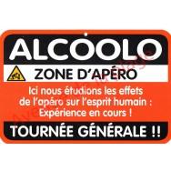 """Plaque de porte Danger """"Alcoolo"""""""