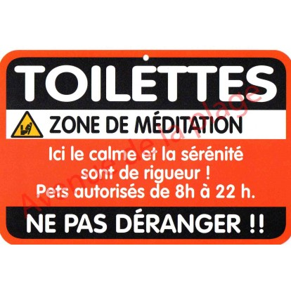 "Plaque de porte Danger ""Toilettes"""