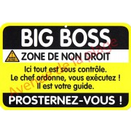 "Plaque de porte Danger ""Big Boss"""