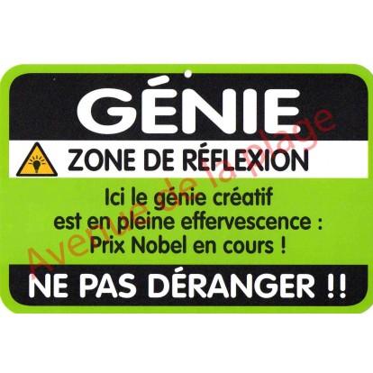 "Plaque de porte Danger ""Génie"""