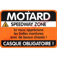 "Plaque de porte Danger ""Motard"""