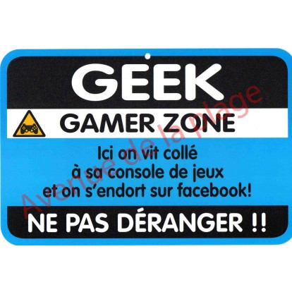 "Plaque de porte Danger ""Geek"""
