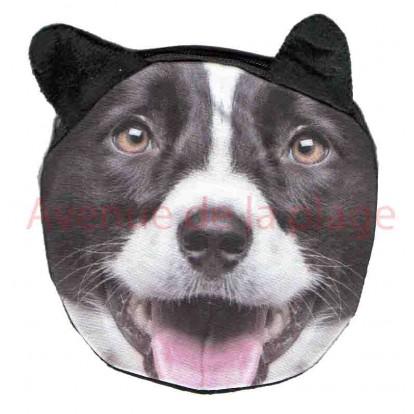 Porte-monnaie tête de chien Border Collie
