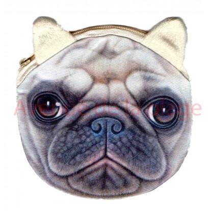 Porte-monnaie tête de chien Carlin