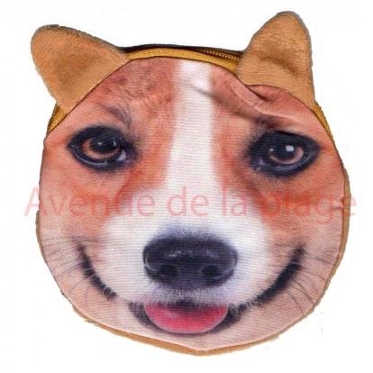 Porte-monnaie tête de chien Fox Terrier
