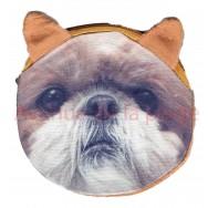Porte-monnaie tête de chien Shih Tzu