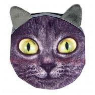 Porte-monnaie tête de Chat noir